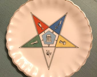 Order of the Eastern Star F.A.T.A.L. Plate, Vintage