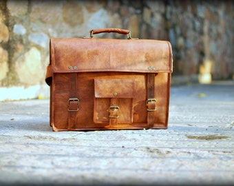 Leather Briefcase,Leather Messenger Bag,Womens Satchel,Leather Cross Body Bag,Leather Satchel, Laptop Messenger Bag,Father's Day Gifts