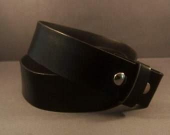 Black Leather Snap Belt-Women's Leather Belt-Men's Leather Belt-Belt for Buckle-Black Leather Strap-Men Belt-Gifts For Her-Gifts For Him