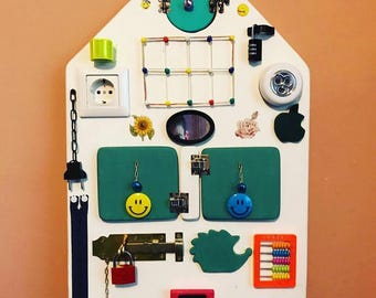 Busy Board, educational games, activity Board, wooden toys, handmade