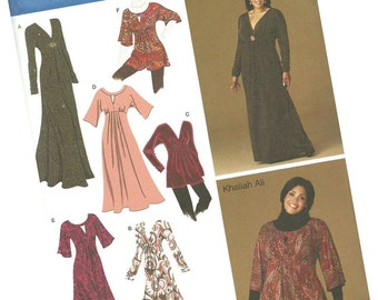 SIMPLICITY PATTERN 2774 khaliah ali collection, ladies dresses and blouses, sizes 10, 12, 14, 16 and 18, new and uncut
