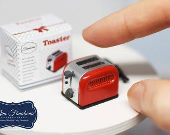Toaster mini - handmade Dollhouse 1:12 scale kitchen appliance