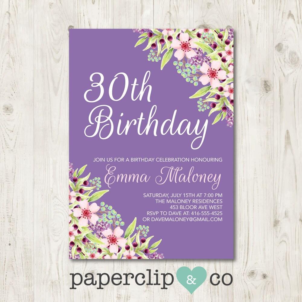 Birthday invitation birthday party invitation milestone zoom izmirmasajfo