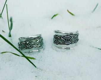 Viking style ring / silver ring / borre ring / adjustable ring