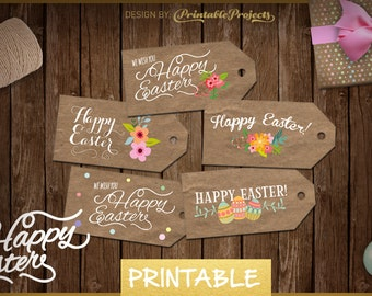 Easter gift tags easter decoration easter tags clay tags easter labels printable easter gift tags easter tag easter eggs easter 2016 negle Choice Image