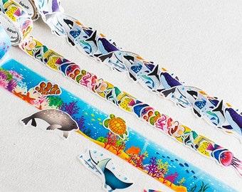Bande Aquarium Washi Roll Sticker  | Bande Marine Series, Sea Creature Masking Tape, Whales Stickers (BDA236)
