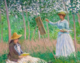 ORIGINAL design, durable and WASHABLE PLACEMAT - Claude Monet - Monet painting - white classic.