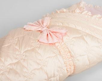 Newborn Cocoon & Baby Blanket -  Pich Lace - Sleep Walk Birth - 405/1