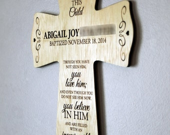 Personalized Wooden Baptismal Cross!