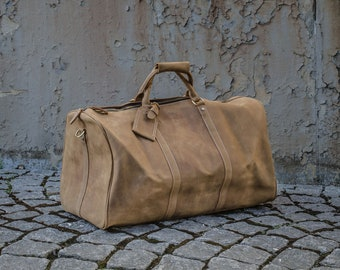 Leather Weekender Bag / Leather luggage / Leather Duffle Bag / Leather travel bag / Leather suitcase / Leather cabin bag / Leather gym bag