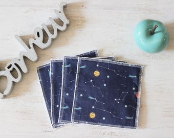 Set of 4 constellations baby wipes