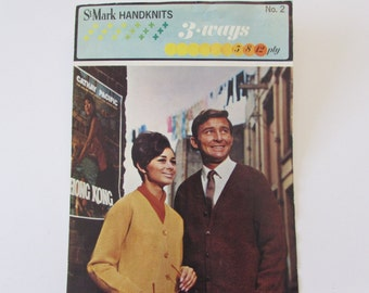 Vintage (1960s) knitting patterns, 'Hand Knitting Made Easy' St. Marks hand knits, 5, 8 & 12 ply