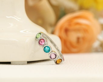 Mothers Ring - Mothers Birthstone Ring - Mothers Jewelry - Family Ring - Family Birthstone Ring - Mothers Day Gift - Grandmothers Ring