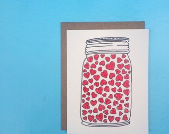 Jar of Hearts Card.