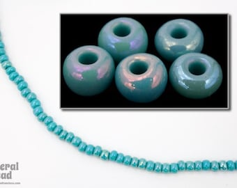 6/0 Opaque Green Turquoise AB Seed Bead (40 Gram) #CSB218