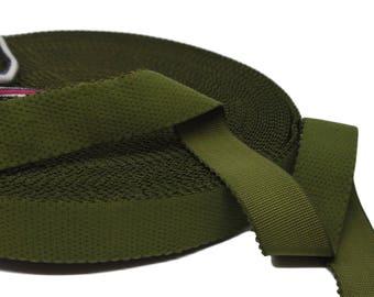 "3 yds Olive Green Plush Back Waistband Elastic - 1"" wide (AC38)"