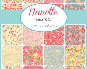 Moda Nanette | Chez Moi | Quilt Fabric | Precuts | Charm Pack | Layer Cake | Jelly Roll | Yardage | Fabric Bundle | Quilting Fabric | Cotton