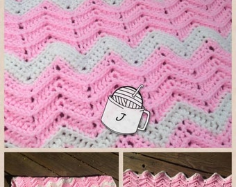 PDF Ridged Ripple crochet pattern