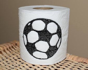 Instant Download: Soccer Ball Toilet Paper Machine Embroidery Design 4x4 + TP Hooping Instructions