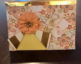 Flower curtain, card