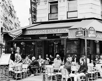 Paris Photography, Black and White, Paris Prints, Paris Cafe, Cafe Print, Paris decor bedroom, Paris Wall Decor, Paris Wall Art