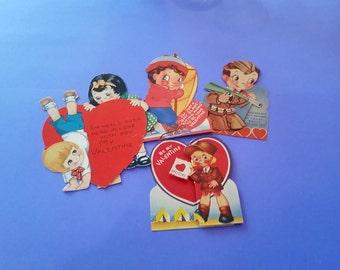 Vintage 1930s Valentine's Day Cards - Set of 4 - 002
