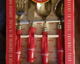 Coca-Cola 16 Piece Flatware Set. Service for 4