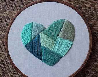 "5"" Geometric Blue Heart"