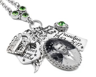 Memorial Jewelry, Photo Jewelry, Memorial Pendant, Personalized Memory Photo, Photo Pendant, Custom Photo Pendant