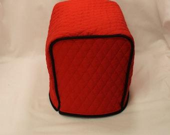 2 Slice Toaster Cover M.T.O. - Red/Black Trim)- 10 Fabrics 13+ Trim Colors - Designer Style - Gift under 30