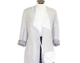 Vintage pink and grey blazer UK 12 - 14