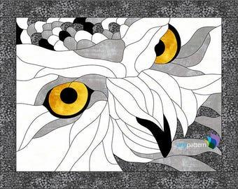 Owl Eyes Applique Quilt Pattern