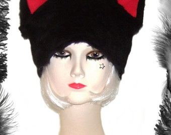 Furry Cat Ears Hat, any size, lots of colours to choose from.