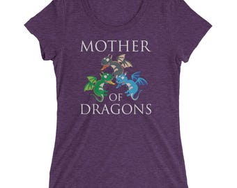 Mother of Dragons for Dragon Lovers Women's Premium Short Sleeve T-Shirt