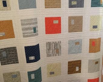 Gridblocked Quilt PDF Digital Pattern