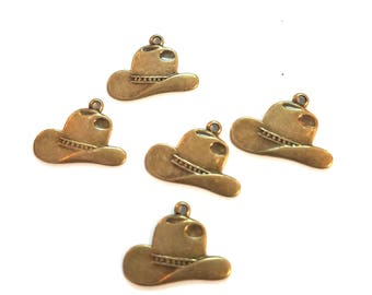 Cowboy Hats Bronze Charm