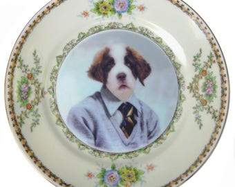 "Bernard, School Portrait Plate 6.5"""