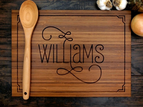 Engraving Wedding Gifts: Personalized Wedding Gift Custom Engraved Wood Cutting Board
