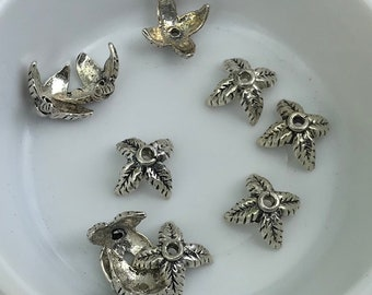 10pcs 925 Sterling silver bead caps