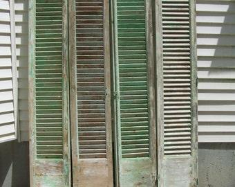 vintage wood shuttersarched mediterranean shuttersfour panels