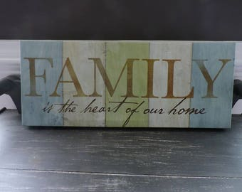 Canvas Picture, Family, Wall Hanging, Wall Decor, House Decor, Saying Picture