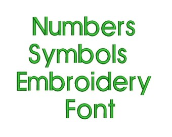 3 Sizes Machine Embroidery Font Designs - Font Letters, Numbers, Symbols Font Alphabet - 0.75,1 & 1.5 inch Sizes