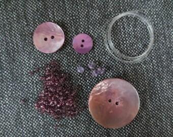 Kit 35 mm diameter lilac Pink Pearl ring