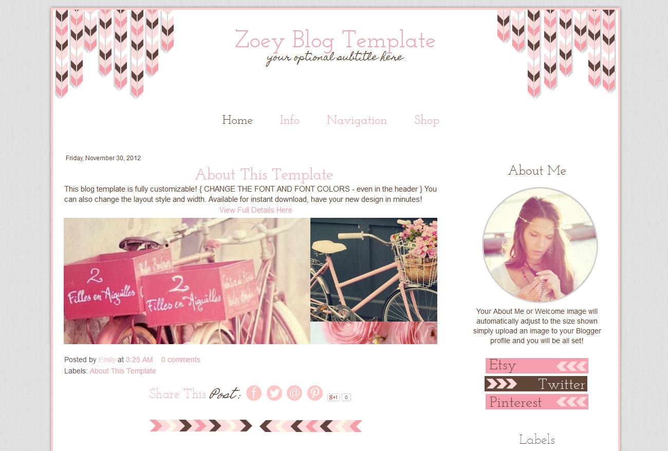 Vorgefertigten Blogger-Vorlagen Rosa Blog Template Mobile