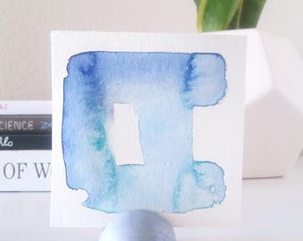 Mini Art - Tiny Abstract Watercolor - Tiny Art - Abstract Art - Office Accessories - Small Abstract Painting - Dorm Wall Art - 3 x 3