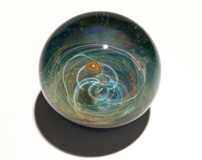 Paperweight - Mystical Galaxy Glass - Universe - Blown Glass - Home Decor - Gift for Him - Art - Borosilicate - Science Gift