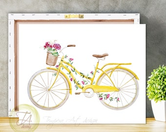 Bicycle Art, Bicycle Wall Art, Bicycle Print, Bicycle Wall Decor