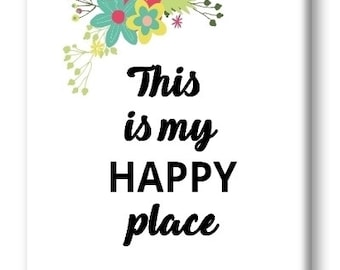 This Is My Happy Place Magnet, Refrigerator Magnet, Kitchen Magnet - RM021