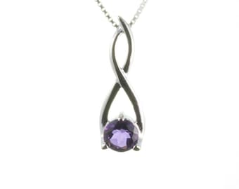 Amethyst Pendant, Sterling Silver Pendant,  Amethyst Necklace, Silver Jewelry, Purple Amethyst Jewelry, February Birthstone, UK Seller