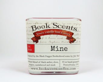 Mine - Book Inspired Candle - Hand Poured, 10 oz coconut wax container candle